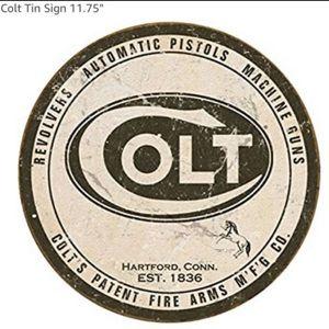 Colt Tin Sign 11.75